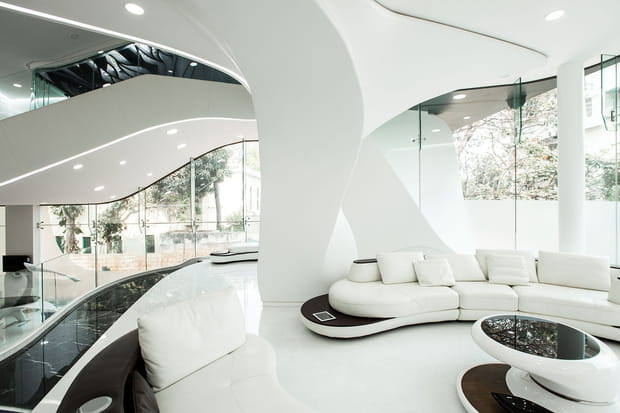La maison futuriste et design : intérieur