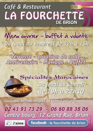 La Fourchette de Brion  - la fourchette de brion affiche -