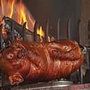 Plat : Auberge de Liézey  - Cochon de lait au barbecue -   © ADL