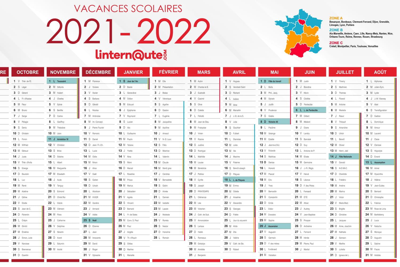 Bien Divorcer Calendrier 2022 Vacances scolaires : imprimez ou téléchargez le calendrier