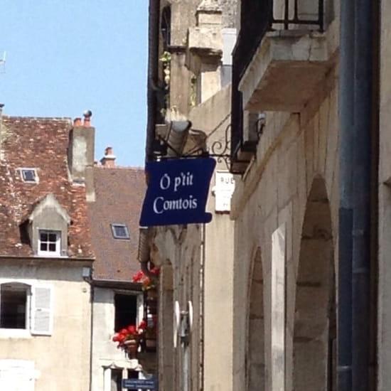 Restaurant : Le Petit Savoyard Ô p'tit Comtois  - Photo enseigne vue de la rue Arney  -