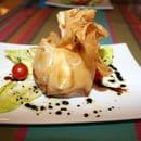 Restaurant Le Gantxo  - Aumoniére de chèvre chaud aux pommes -   © Elodie Lafitte, www.crok-photo.fr