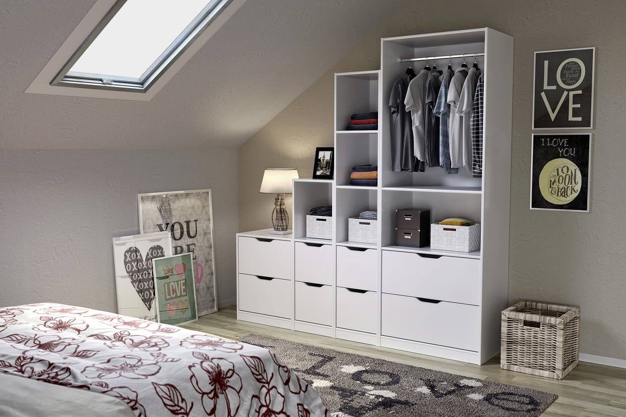Amenagement interieur dressing lapeyre for Amenagement interieur