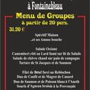 Croix d'Augas  - Menu de groupes -