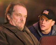jack nicholson (à gauche) aux côtés de matt damon dans 'les infiltrés' (2006).