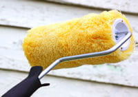 peinture comme crépi, armez-vous d'un rouleau à poils 12 mm ou 18 mm.