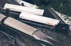 Déraillement aux Etats-Unis: le train allait trop vite, les images