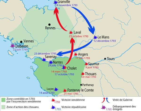 Carte guerre de Vendée