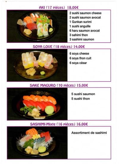 Kinoko Sushi  - Menu page 6 -
