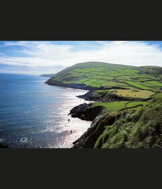 Côtes irlandaises vues du ciel