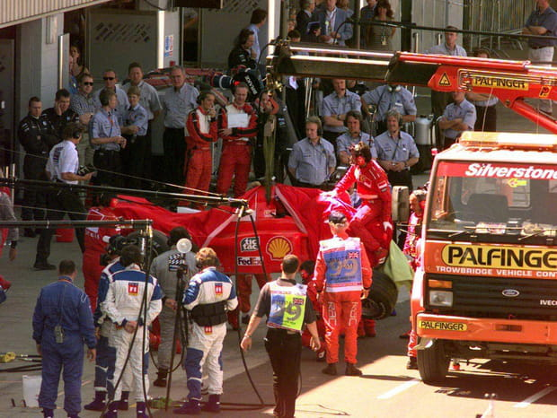 Michael Schumacher à Silverstone (Angleterre) en1999
