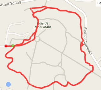 Montpellier : le bois de Mont Maur (3,8km)