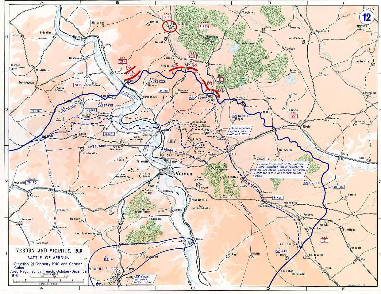 carte de la bataille de verdun Bataille de Verdun : photos, dates clés, carte, bilan Retour