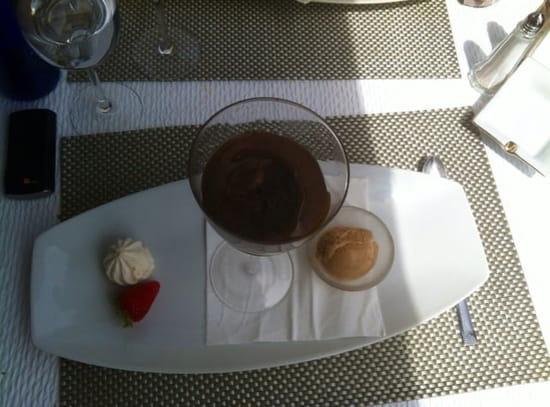Dessert : Le Jean Raymond Sylvie  - Mousse au chocolat au beurre caramel et huile d'olive -