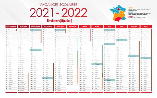 calendrier vacances scolaires 2021 2022