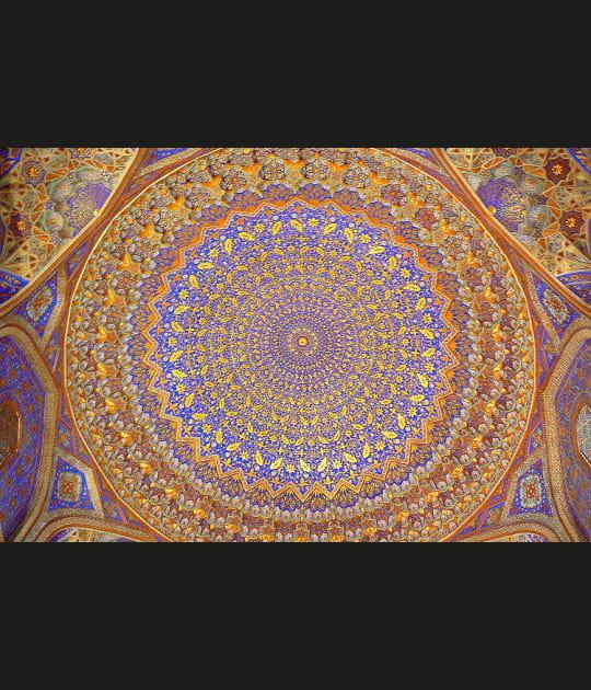 Rosace bleue et or du Registan
