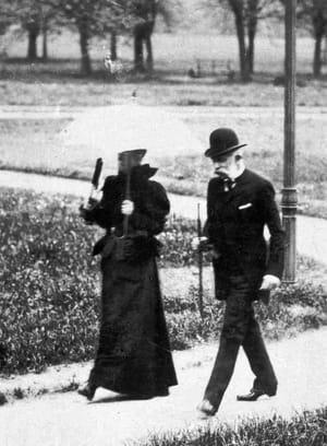 L'empereur François Joseph Ier et sa femme l'impératrice Sissi en 1898 en Autriche