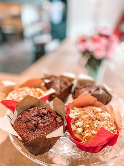 Dessert : Healthy Café  - Muffin chocolat ou fruits rouges -   © Healthy café