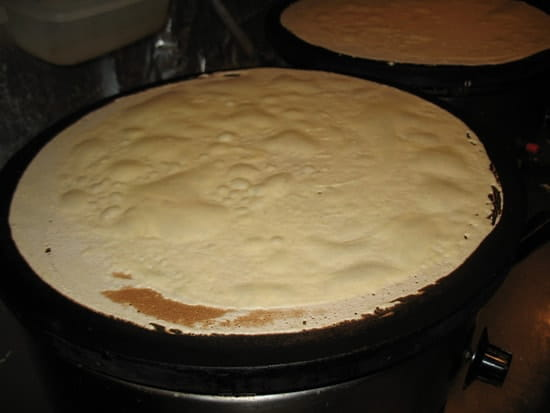 Breizh'ilien  - Crêpe en cuisson -
