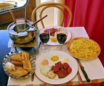 L'Entrecôte Bastille  - fondue bourguignon entrecote bastille -