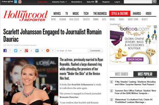 Romain Dauriac et Scarlett Johansson: et maintenant les fiançailles!