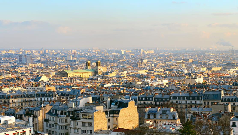 Paris vu de la Basilique du Sacré-Cœur à Montmartre