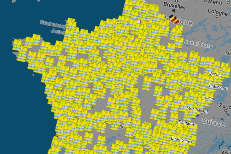 blocage 17 novembre votre ville bloqu e par les gilets jaunes carte. Black Bedroom Furniture Sets. Home Design Ideas
