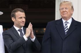Macron: une ovation au Congrès après de curieux échanges avec Trump