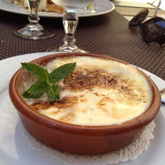 Dessert : L'Entre Temps Restaurant  - Gratiné de péches -