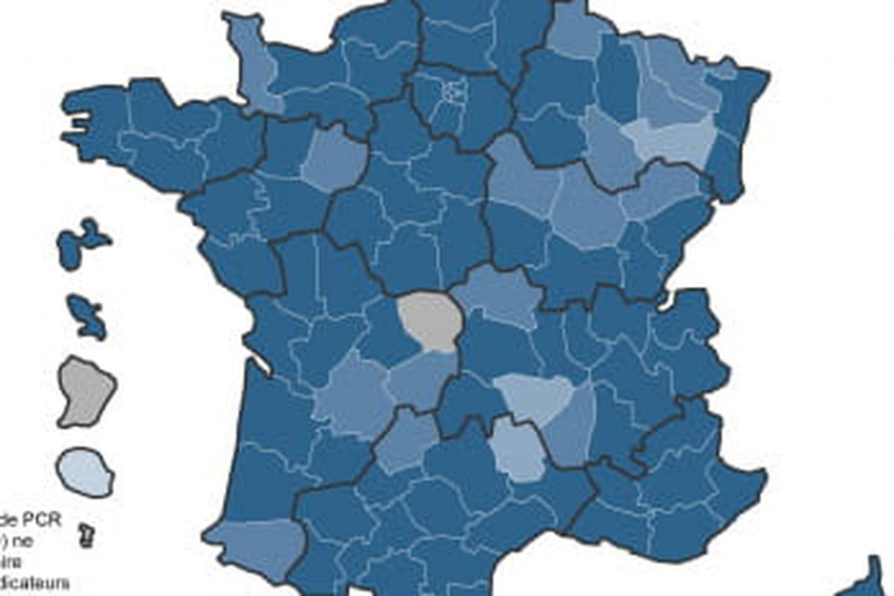 Variant du Covid en France: le variant anglais progresse (carte)