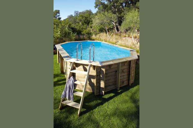 Un bassin ovale - Amenagement bassin hors sol paris ...