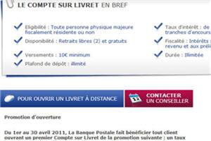 La Banque Postale Un Taux Preferentiel Pour Le Compte Sur Livret