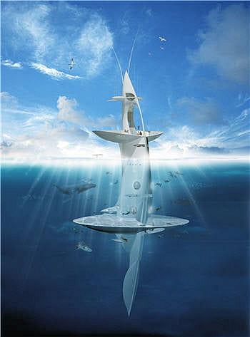 le module émergé de seaorbiter est destiné à la navigation et à la
