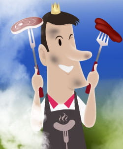 le barbecue exige du sérieux mais aussi de la classe !