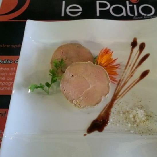Entrée : Le Patio  - Foie gras a la bière brune de Vezelay -