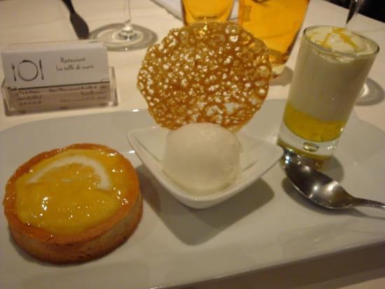 La Table de Marie  - Déclinaison de citron ( tarte citron, sorbet maison, mousse limoncello tuile citron -