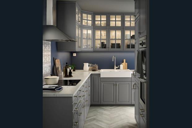 Une cuisine clair e - Cuisine ikea bodbyn gris ...