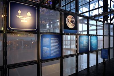 panneau d'explications du concept de développement durable.