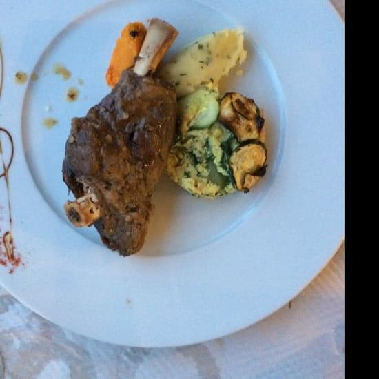 Plat : Auberge du Cheval Blanc  - Sourie d'agneau -