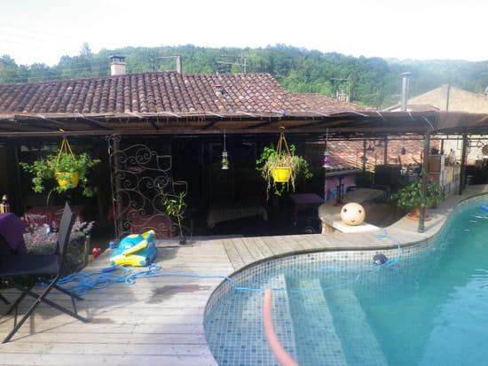 Le Grillou  - terrasse sur piscine -