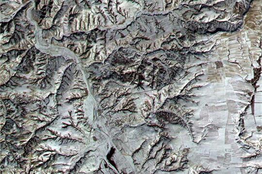 Relief plissé de l'Inde