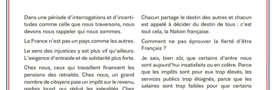 Lettre de Macron: le texte, ce qu'il faut lire entre les lignes