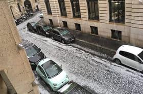 Orage de grêle à Paris: bouchons sur l'A86, plusieurs rues inondées