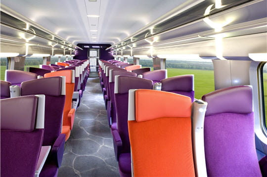 Seconde classe TGV Christian Lacroix
