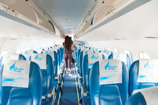 Bangkok Airways : une passagère seule à bord de l'avion [VIDEO]