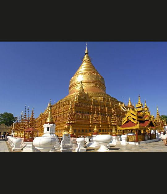Pagode dorée de Birmanie