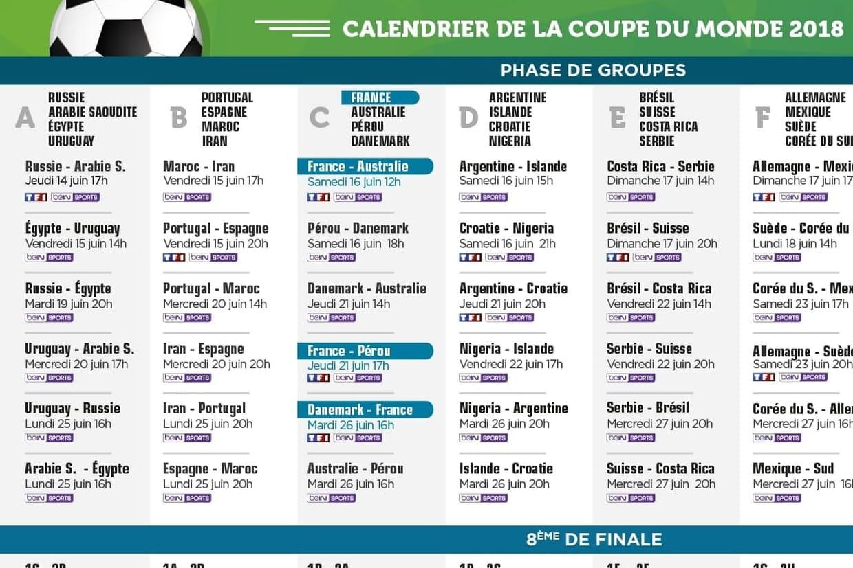 Calendrier coupe du monde france argentine quel programme ce samedi - Calendrier eliminatoire coupe du monde ...