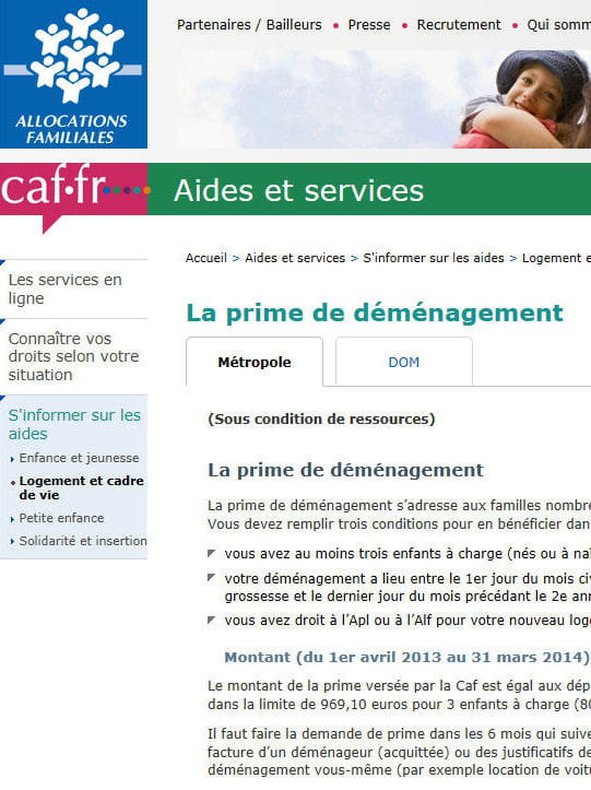 Aide Caf Pour Demenager