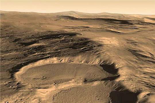 Des glaciers martiens dissimulés