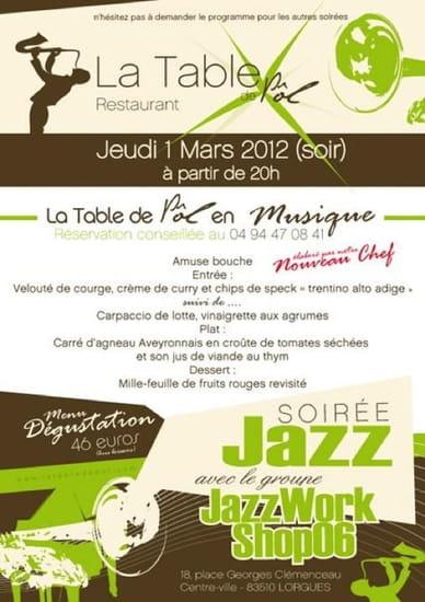 La Table de Pol  - soiree jazz 01/03/12 -